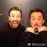 Backstage at #Kimmel - NEW show tonight with @ChrisEvans @RobertDowneyJr #CaptainAmerica #CivilWar 11:35|10:35c #ABC https://t.co/cTeevZwsTr