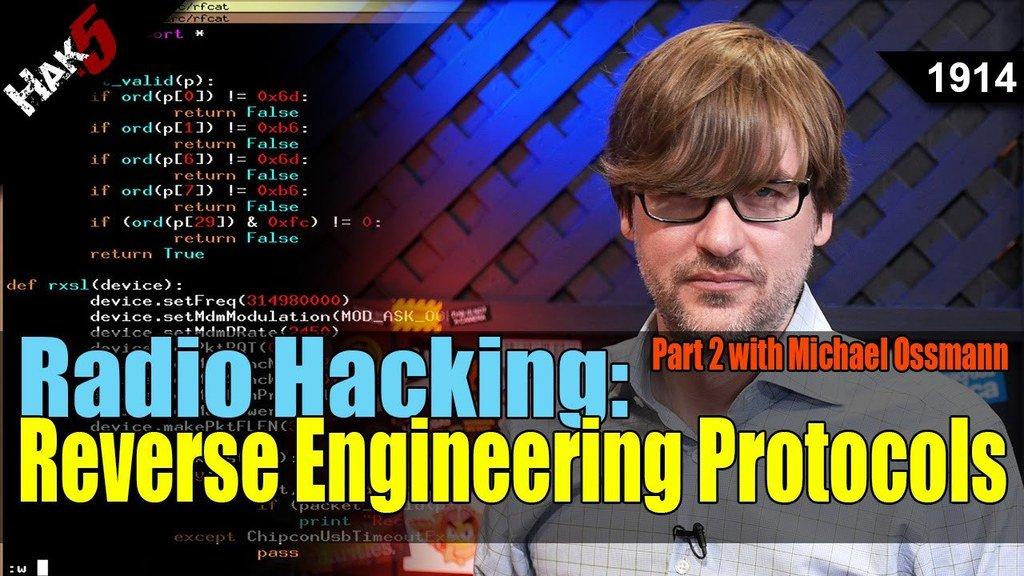 Radio Hacking: Reverse Engineering Protocols Part 2 - Hak5 1914 - https://t.co/VbfhnFS47k via Hak5 https://t.co/LyveZtiHfl