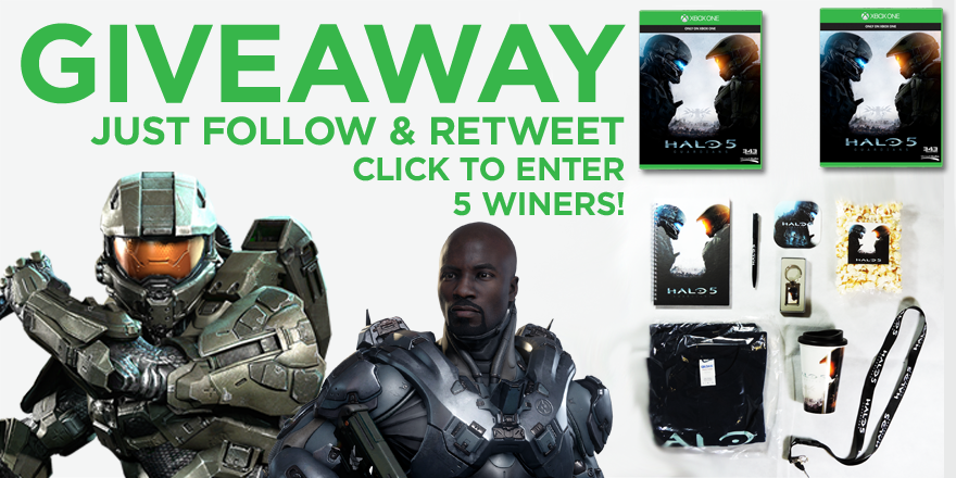 Competition time guys! Follow & RT and have a chance to win! 3 packs + 2 games of Halo 5 guardians are available! https://t.co/6b4JN8RAp8