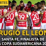 ¡Histórico! @SantaFe clasifica a la final de la #CopaSudamericana --> https://t.co/NASeqhe1XW https://t.co/keLMBwwHfm