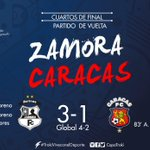#Futve | Final en La Carolina | @ZamoraFutbolC 3-1 @Caracas_FC | #LiguillaVe | #CopaTraki https://t.co/gZvUxo6vkL