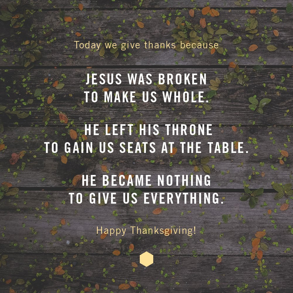 Happy #Thanksgiving! Remember the good news of Jesus today. https://t.co/lsom9bUiYg