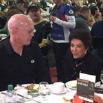 "Bart Starr Jr. & Cherry Starr at @rawhideinc Thanksgiving event. Cherry on Bart Sr: ""Hes the toughest man I know."" https://t.co/1q2WpkVK5V"