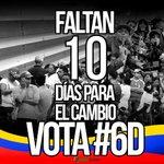 Solo faltan 10 días para el cambio, este #6D ¡todos a votar! https://t.co/XHD1vh0fcY