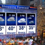 Shopping on #BlackFriday here is your soggy forecast for the greater #Chicago area @Fox32News https://t.co/jKhG4I46GI