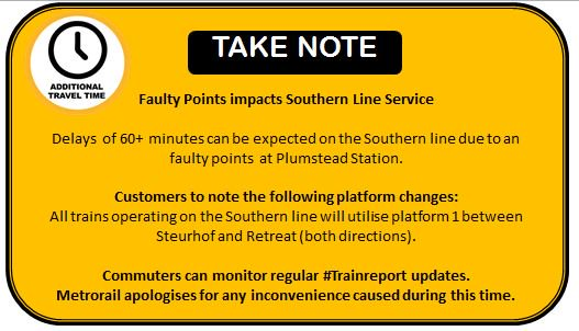 #ServiceAlert : Please see the current #SouthernLine service update. https://t.co/rGfNZhlBX0