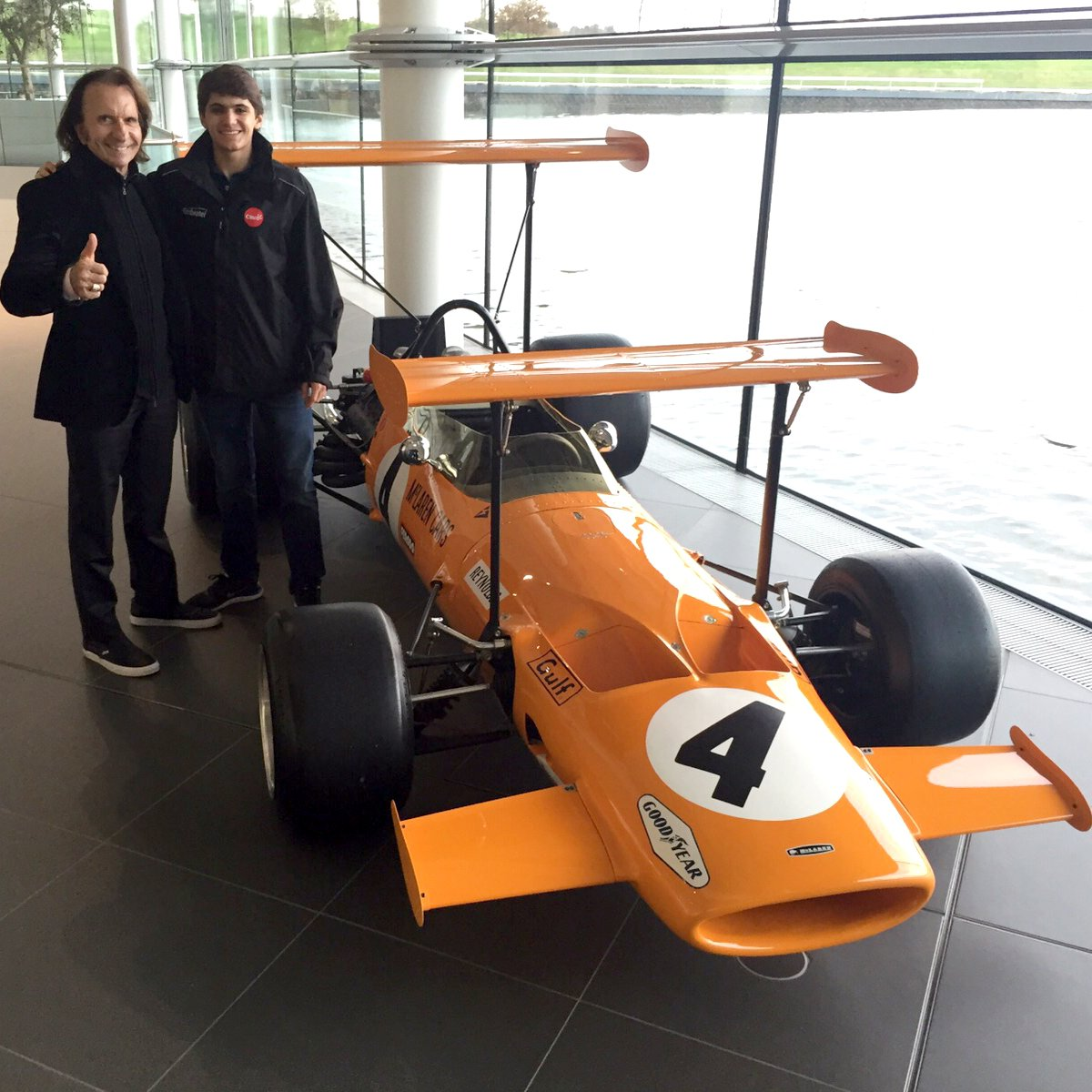 #FBF to my trip to the #McLaren centre with my grandfather. Here's the #F1 car driven by Bruce McLaren & Denny Hulme https://t.co/LJ4fFdnRx9