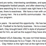 The full story on @USCCoachHelton being named head coach: https://t.co/44WHugKAuP including quotes by @ADHadenUSC: https://t.co/kw0WxbyR5w