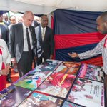 The First Lady visits exhibitions at City Stadium during the National Commemoration of #WorldAIDSDay #WAD2015KE https://t.co/rHYqXKxJ1D