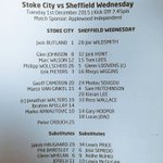 #ComeOnWednesday heres this evenings #swfc line up! https://t.co/rHJg4DUSwh