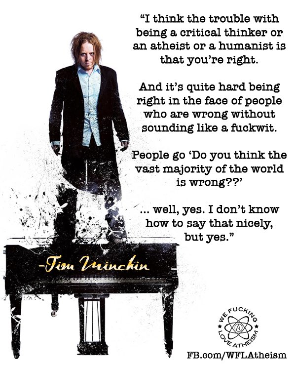 Tim Minchin on being a critical thinker. https://t.co/THFDAd6EP8
