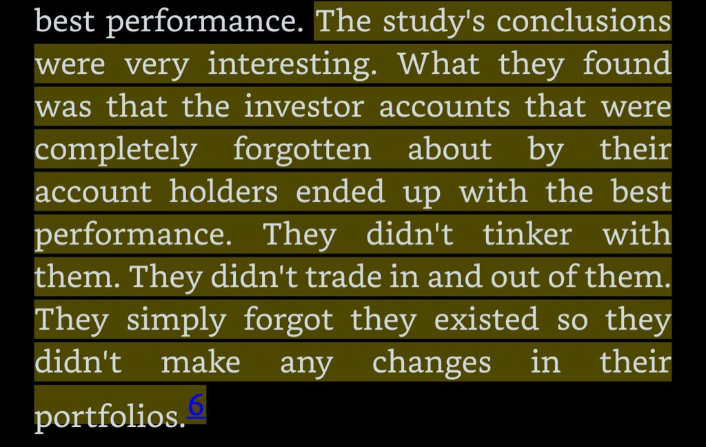 Fidelity found that common trait of successful investors is that they had totally forgotten about their portfolio... https://t.co/jQnKWj3OWB