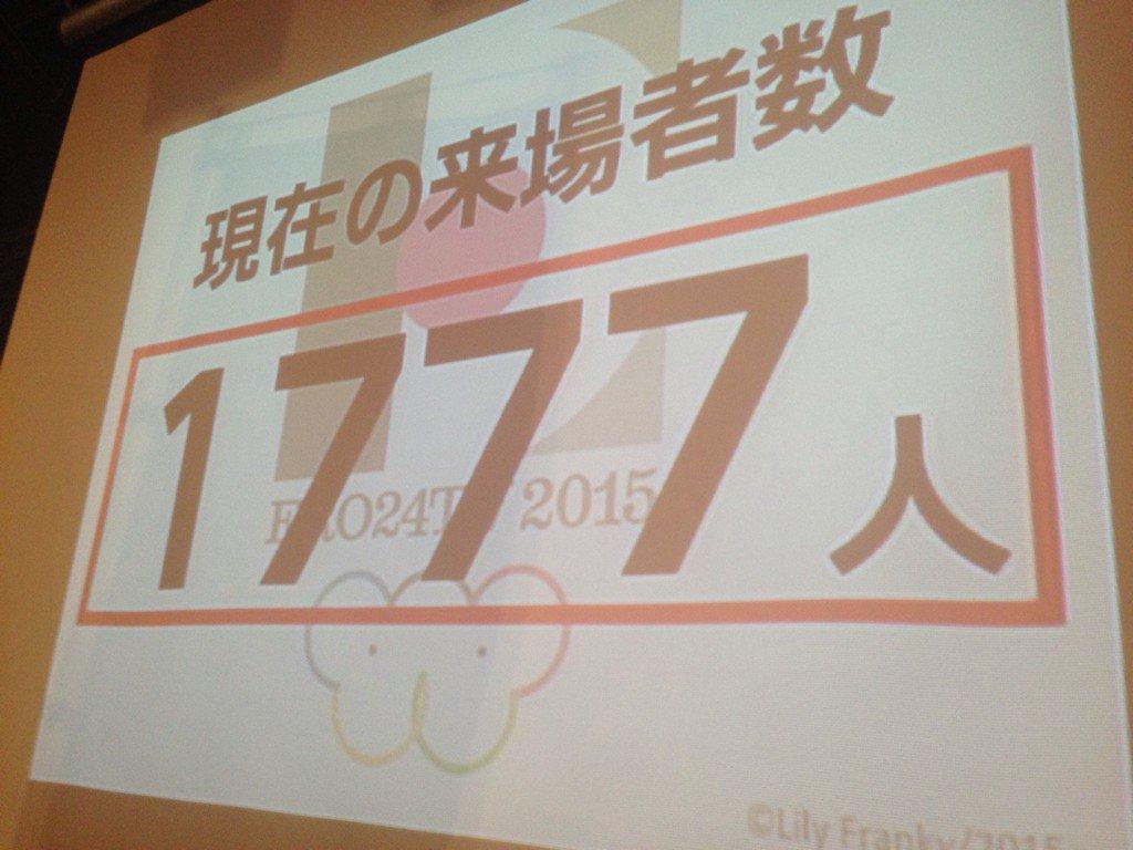 本日のおっぱい募金は終了いたしました!来場者数は1777人です! https://t.co/4Xl8FrOgDe