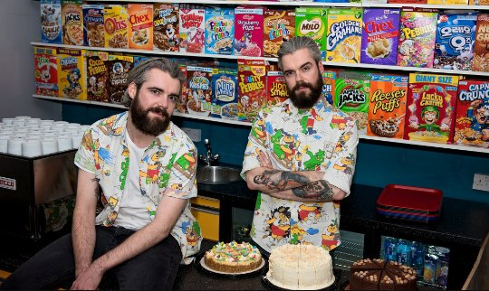 "Just two of London's bearded radicals. And they let these guys run the ""Cereal Killer Cafe."" Shocking. #TrumpFacts https://t.co/g0uYTGvRub"