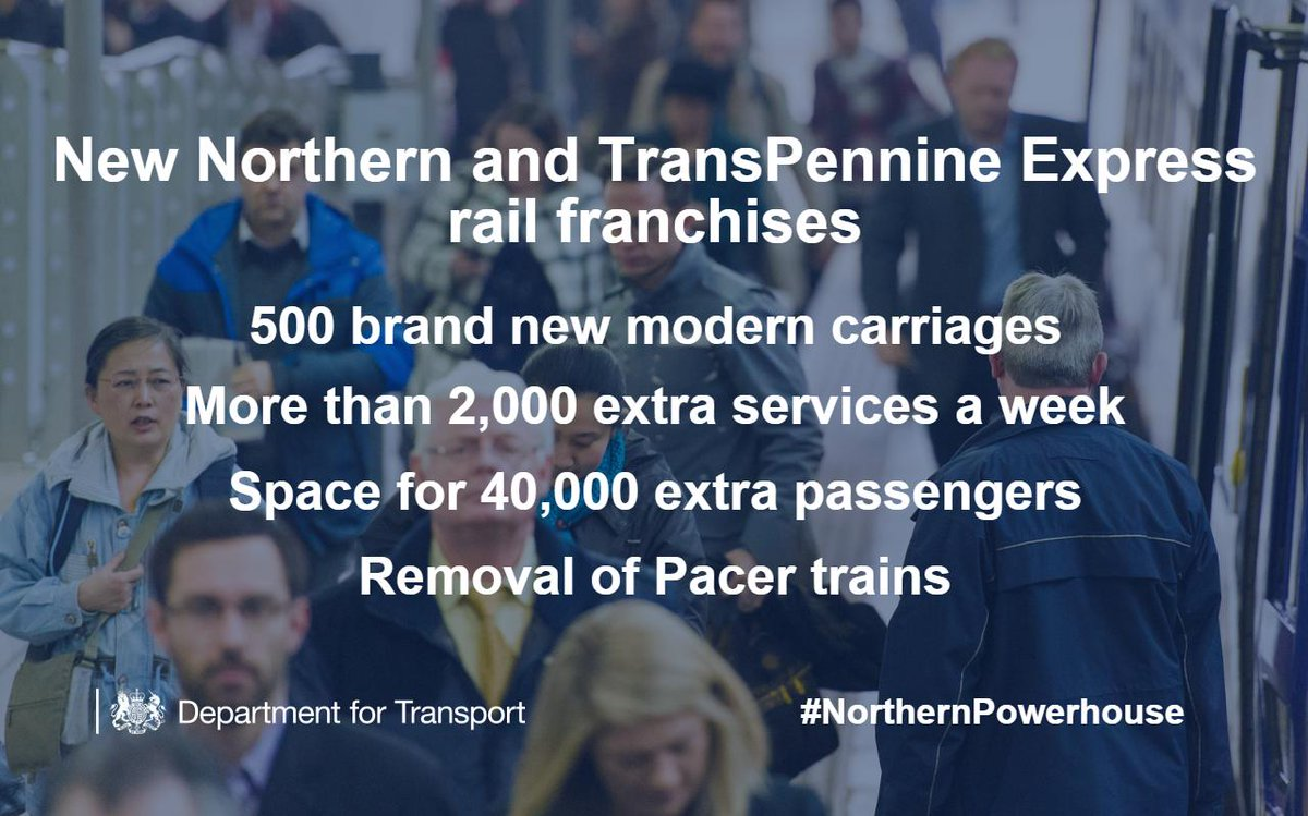 Rail passengers in the north to receive new trains and more services https://t.co/xlExupWrum #NorthernPowerhouse https://t.co/n1eq2ptIyk