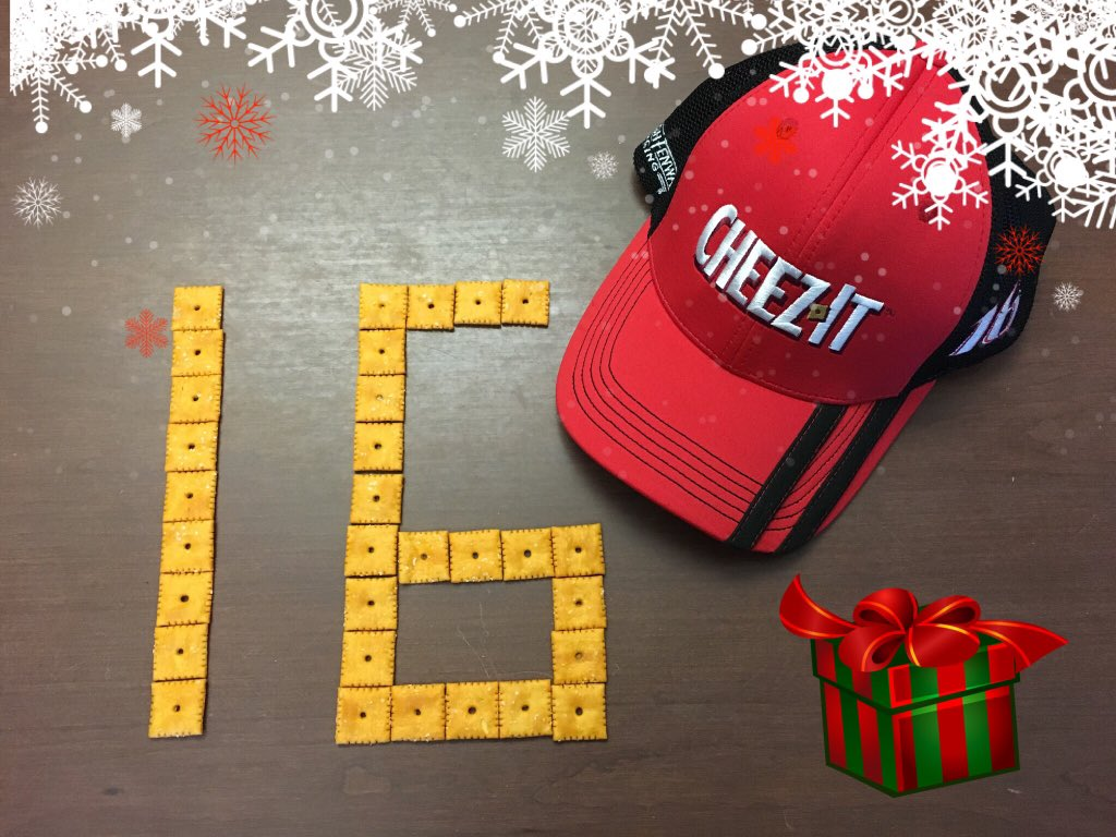 How many days until Christmas? 16! In honor of our favorite number we are giving away this @cheezit hat. RT to win! https://t.co/AmTmjVL41a