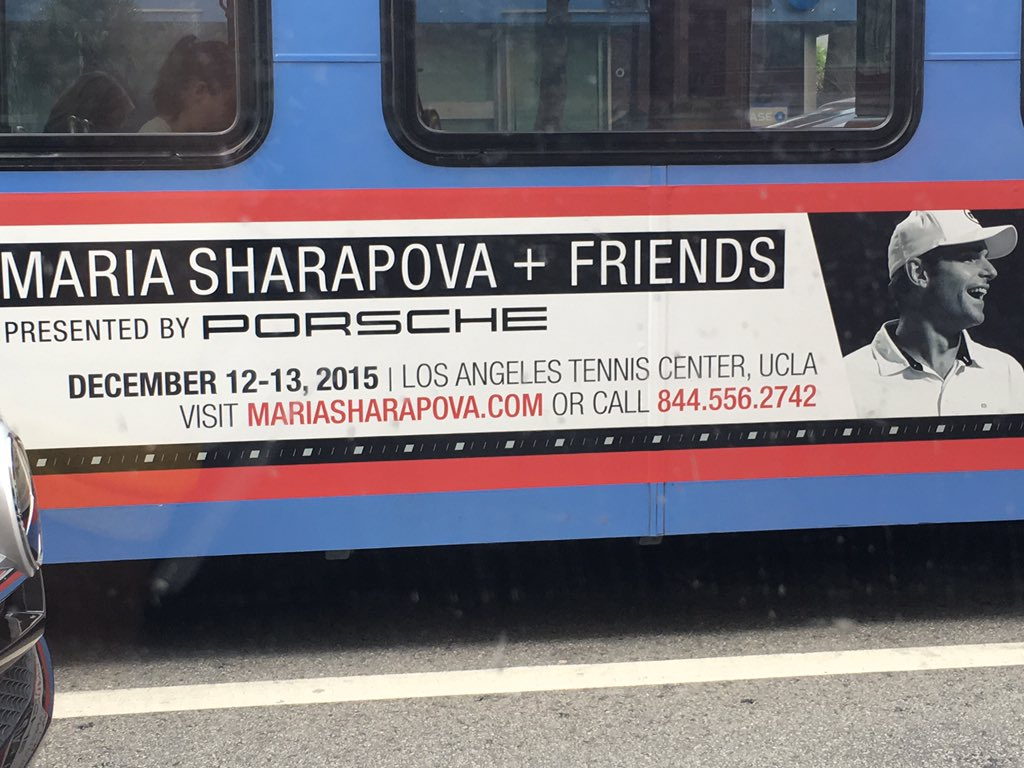 RT @USTASoCal: .@MariaSharapova and friends is happening this weekend! Have you spotted the busses cruising around town? https://t.co/02oic…