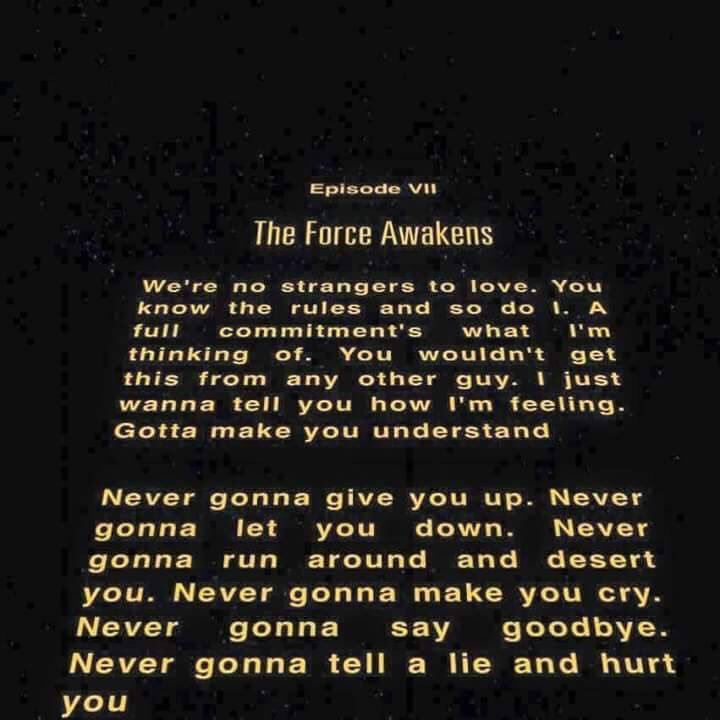 Star Wars fans: the Episode VII opening crawl will not let you down. https://t.co/j1XtkrfzFE
