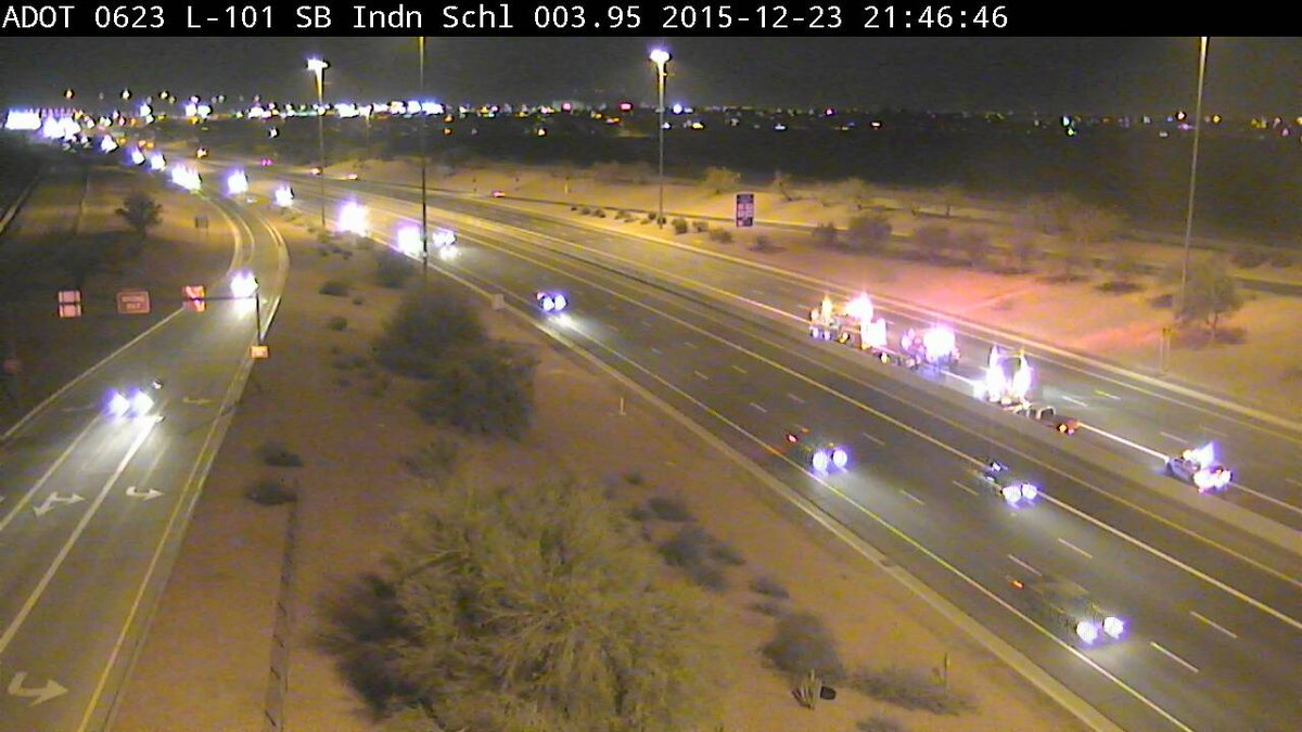 Phoenix Freeway Shooting Update: Two people shot, one with chest wound, other shot in leg. NB 101 closed at Thomas. https://t.co/O1SQ0VQC7y
