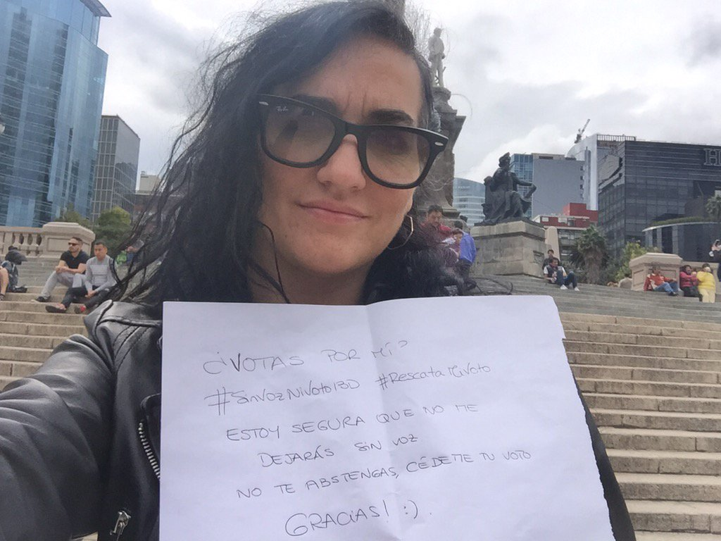 Me echaron. Me fui. No importa, ahora quiero votar desde DF. Falta una semana: ¿#RescataMiVoto? #SinVozNiVoto13D https://t.co/yaUCXg516g