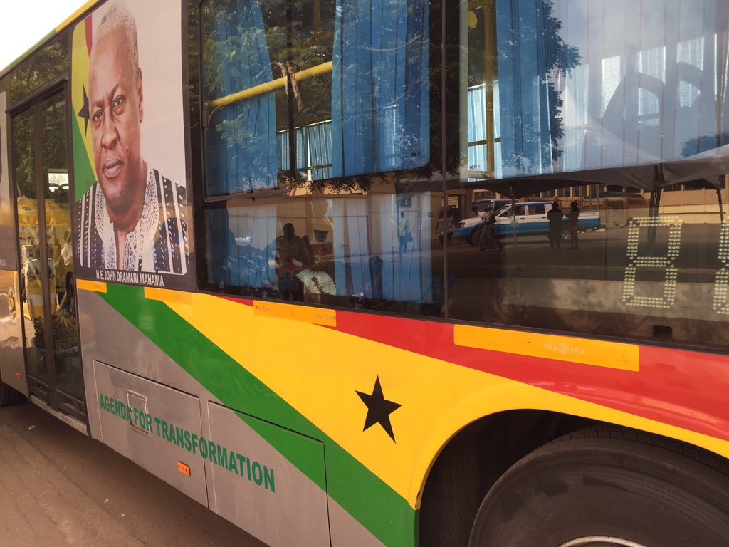 "I'm in the ""New Kuffuor""- bus (despite the @JDMahama branding it's what it's popularly called). Dignified transport! https://t.co/ioCo9PHcN6"