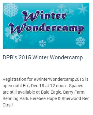 Countdown to #WinterWondercamp!! Spaces still available @ ctrs in #Ward6, #Ward7 & #Ward8.  https://t.co/dtpNNlQJTk https://t.co/azIaKnN3FN