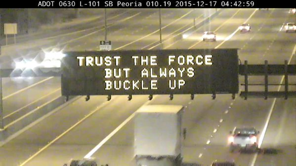 Remember, not buckling up leads to fear. Fear leads to anger. Anger...well, you know the rest. #StarWars https://t.co/LGAtNZWd1o