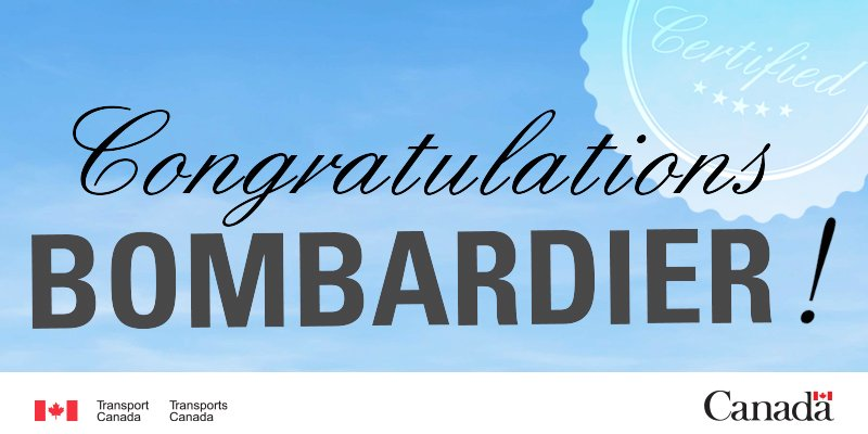 Congratulations @Bombardier on this important milestone! #CSeries #CS100 https://t.co/jYlQYlepsk