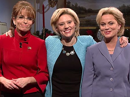 Tina Fey and Amy Poehler bring Sarah Palin and Hillary Clinton back to