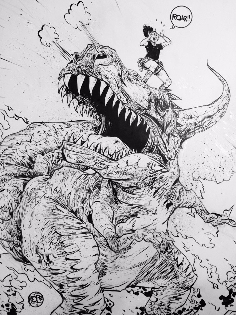 Moon Girl & Devil Dinosaur #3 variant (line art) https://t.co/ulcxzTxYg2