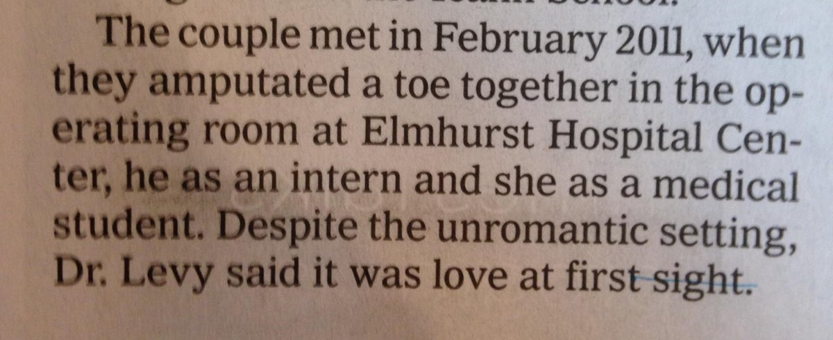 Love that @NYTStyles Vows now includes how they met. The winner thus far: https://t.co/9uOFYeza1Y