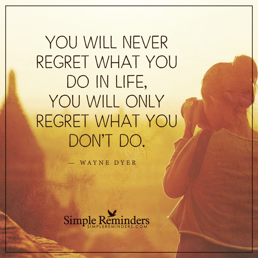You will only regret #Quotes #SR https://t.co/13ELWM3X65