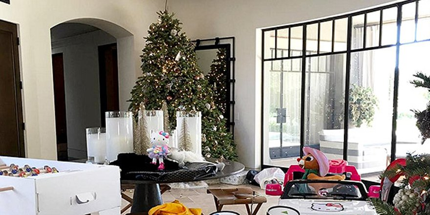 The Kardashian-Jenner-West Christmas gifting is exactly as over-the-top as you'd imagine