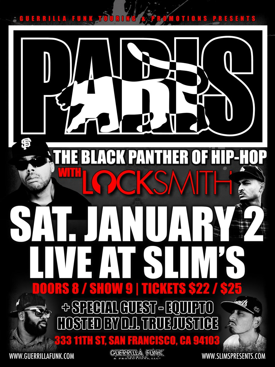 This just in... @EQUIPTO has been added to this Saturday's show w/ @paris_gfr + @dalocksmith! https://t.co/duNm29PSwl