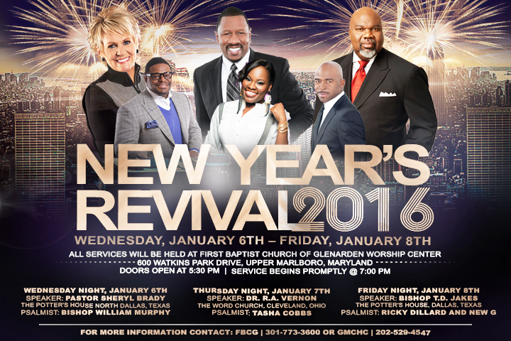 Where will you be in 2016? #jointrevival w/ @GMCHC1 of course! Jan. 6-8. Doors open 5:30p @ Worship Center #fbcglive https://t.co/q0pnRd9mSv