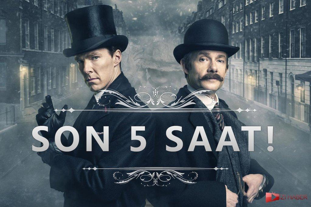 Artık gün değil saatleri geri sayım yapıyoruz! #Sherlock türkçe alt yazıyla 23:30'da TLC'de. https://t.co/p9LwRKlBeZ