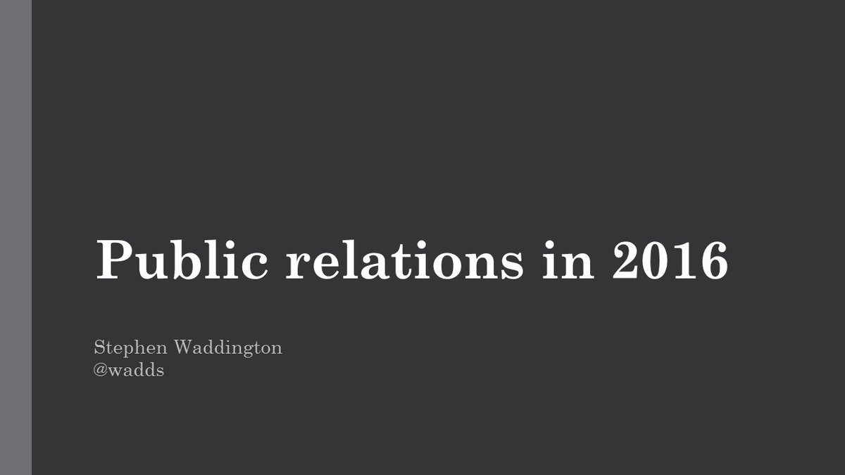 Freshly blogged > Public relations in 2016: 16 areas of change https://t.co/5XpjtMidVT https://t.co/SDOGVWdJ5Q