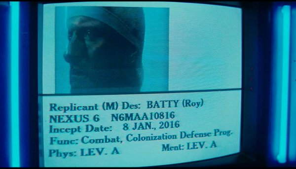 Roy Batty will be incepted Friday.  #oldfutures https://t.co/OT5136Qakq