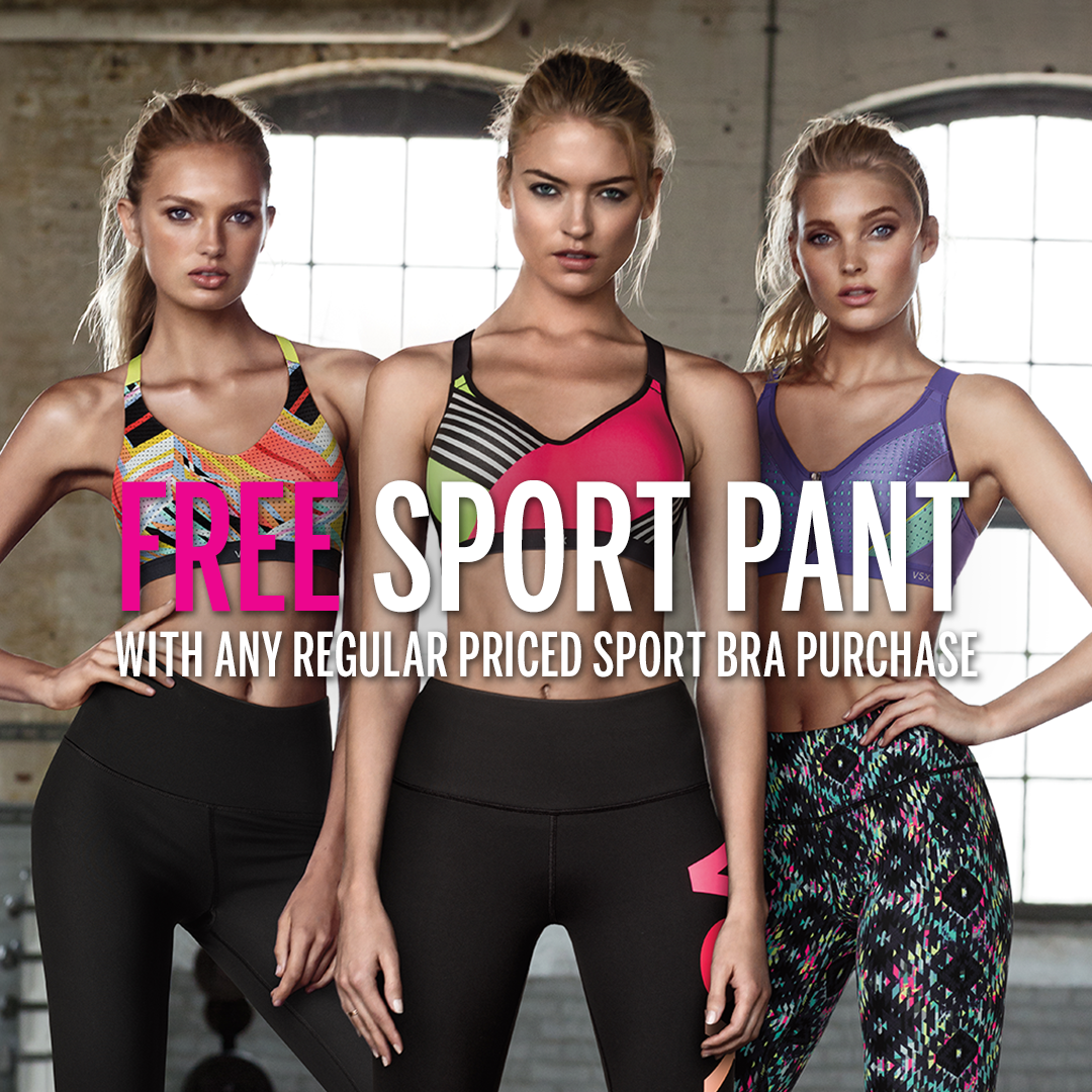 FREE sport pant when u buy a sport bra, in all US non-outlet stores & online. #ThisIsEpic https://t.co/s6Do76X2hG https://t.co/CYHPZvMVH9