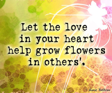 Let the love in your heart help grow flowers in others'. https://t.co/8G7GqNiXhi