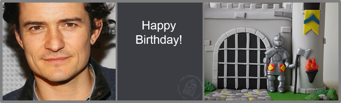 A special Cake Academy Happy Birthday to Orlando Bloom!  P.S. Don\t cut your cake with a sword!