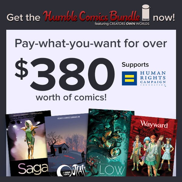 Image Comics celebrates diversity with @Humble Bundle to benefit @HRC https://t.co/4VRlb2XfwZ https://t.co/laWjKIURWb