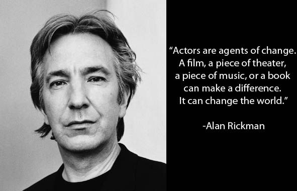 """If people want to know who I am, it is all in the work.""  Alan Rickman  2-21-1946 - 1-14-2016 https://t.co/3kSPVaHb0q"