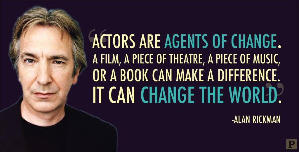 Thanks @playbill for this tribute to #AlanRickman that serves as a reminder of the power of art to change the world https://t.co/Ka3CG2XC0v