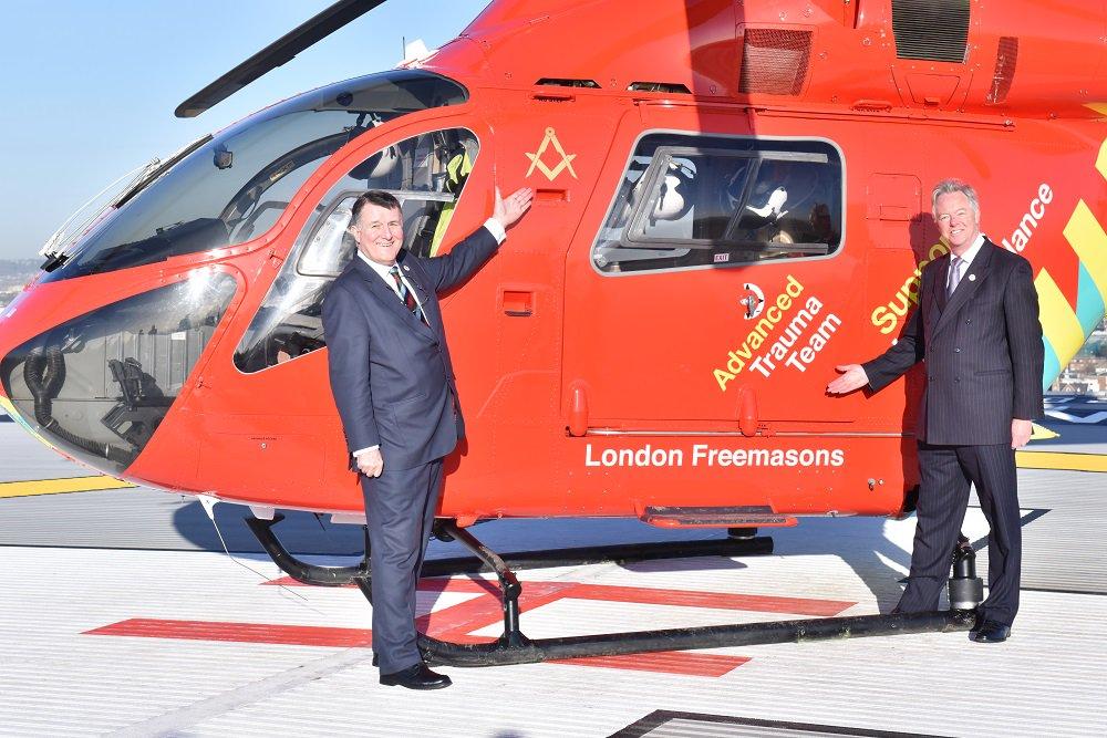 Thank you London Freemasons for generous £2million donation towards 2nd helicopter #YourHelicopter @MetGrandLodge https://t.co/v8u3Zn4i4n