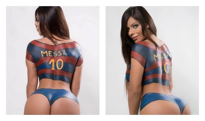 RT @PublimetroMX: Miss Bumbum rinde homenaje a Lionel #Messi con body painting  https://t.co/5msu733lWw https://t.co/eCf8V1L5GZ