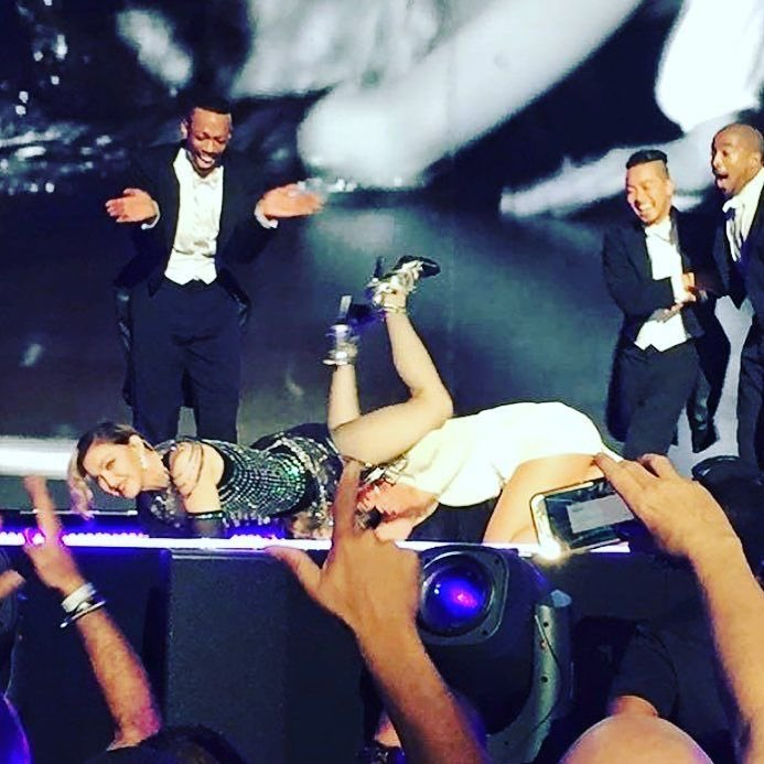 What the hell just happened? UB pile up! 2nd show in Peurto Rico! Many unexpected surprises. ❤️ #rebelhearttour https://t.co/zOvaeqJZRI