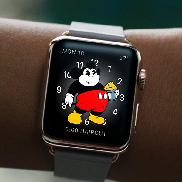 Apple Watch easter egg: When you haven't moved in 2 days, Mickey gives up. https://t.co/eblUKCi92i