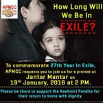 RT @vinodkoul13: @AnupamPkher zLeave your houses for tomorrows mass protest against the mass killing of kashmiri pandit's. https://t.co/yiC…