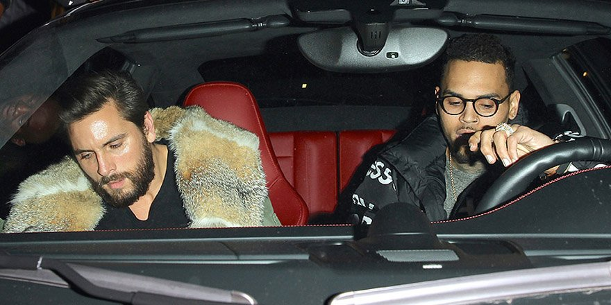 Scott Disick and Chris Brown party at same L.A. hot spot as Kendall Jenner and Tyga